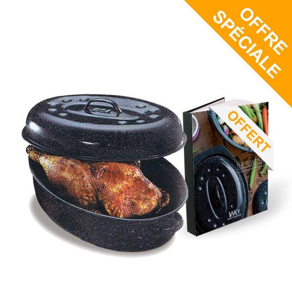 GraniteWare - Cocotte à enfourner the roaster Moyen modèle et livre offert