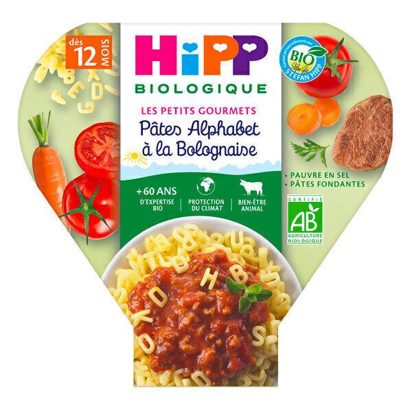 HiPP - 1 assiette pâtes alphabet à la bolognaise 230g