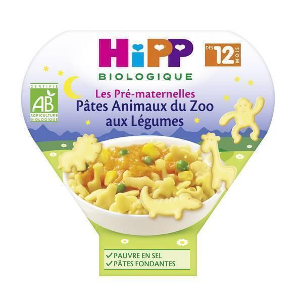 HiPP - 1 assiette pâtes animaux du zoo aux Légumes 230g