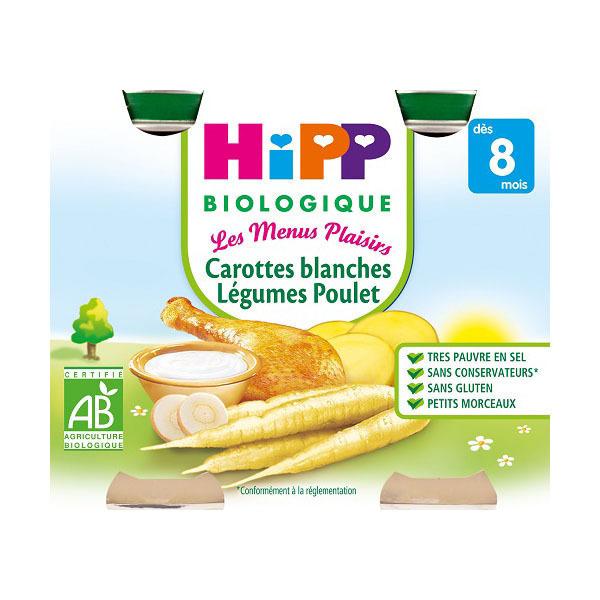 Hipp - Carottes blanches Légumes Poulet 2x190g