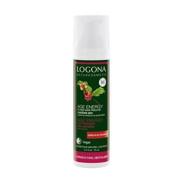 Logona - Fluide sans rinçage Age Energy caféïne, 75 ml