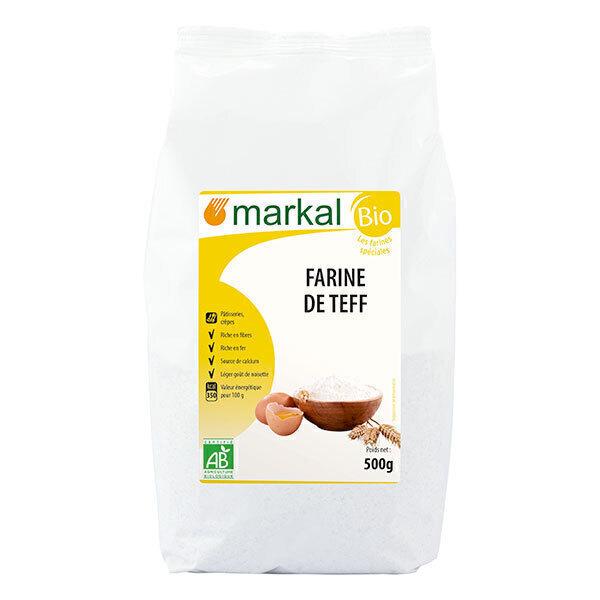 Markal - Farine de teff blanc sans gluten 500g