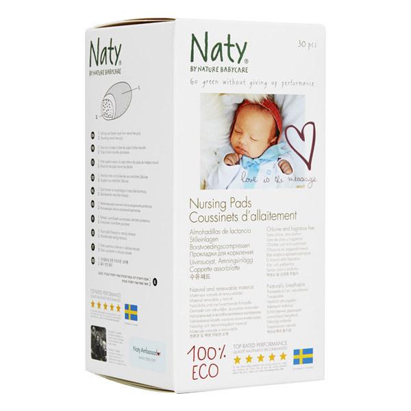 Eco by Naty - Coussinets d'allaitement ECO Naty - Boîte de 30