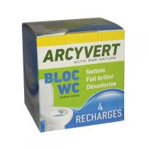 ArcyVert - 4 Recharges Bloc WC