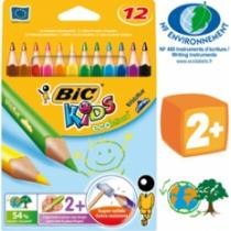 Bic Ecolutions - Crayon de couleur Triangle x 12 BIC