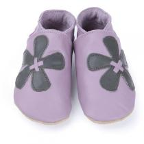 Starchild - Pantofole in cuoio Starchild Elle in Mauve and Grey