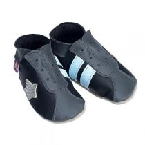Starchild - Pantofole in cuoio Starchild Retro Trainers in Black and Grey