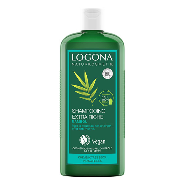 Logona - Shampooing extra-riche au bambou 250ml
