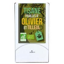 Aromandise - Tisane Feuille d'Olivier et tilleul Bio 20 sachets