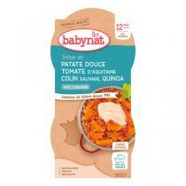Babybio - Bols Patate douce tomate colin et quinoa 2 x 200g