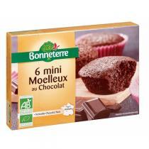 Bonneterre - 6 mini Moelleux chocolat noir 200g