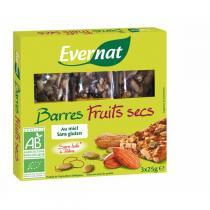 Evernat - Barres Fruits Secs 3x25gr