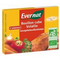 Evernat - Bouillon Cube Volaille (6 Tablettes) 6x10gr