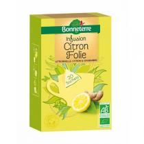 Bonneterre - Infusion Citron Folie Sachets Pyramides 50gr