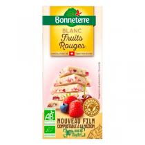 Bonneterre - Tablette chocolat Blanc fruits rouges 100g