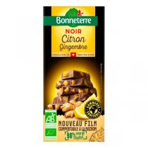 Bonneterre - Tablette chocolat Noir citron gingembre 100g