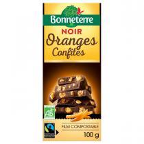 Bonneterre - Tablette chocolat Noir Oranges confites 100g