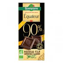 Bonneterre - Tablette chocolat Origine noir Equateur 90% 70g
