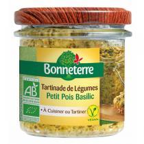 Bonneterre - Tartinade de légumes Petit pois basilic 135g