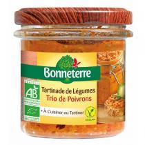Bonneterre - Tartinade de légumes Trio de poivron 135g