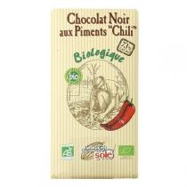 "Chocolates Solé - Chocolat Noir 73% Aux Piments ""Chili"" bio 100g"