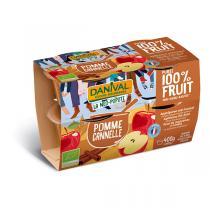 Danival - Purée Pommes cannelle BIO 4 x 100g