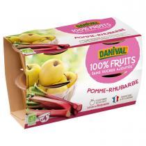 Danival - Purée Pommes rhubarbe BIO 4 x 100g