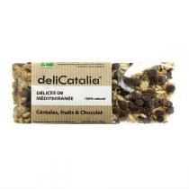 DeliCatalia - Barre De Céréales Fruits Chocolat Bio 50g