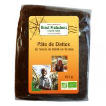Direct producteurs Fruit secs - Pâte de dattes de Tunisie 500g