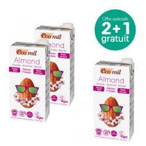 EcoMil - Offre Lait amandes proteiné Nature sans sucres 1L BIO 2+1 offert