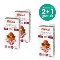 EcoMil - Offre Lait amandes-vanille Nature sans sucres 1L BIO 2+1 offert