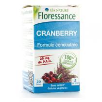 Floressance - Cranberry Formule concentrée 40 gélules végétales
