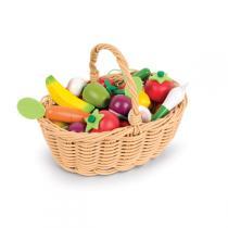 Janod - Einkaufskorb mit Obst und Gemüse 24-tlg