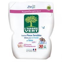 L'Arbre Vert - Recharge Lessive Liquide Peaux Sensibles Famille & Bébé 2L