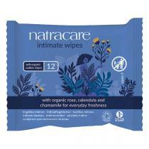 Natracare - 12 Lingettes intimes 100% Coton Bio