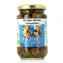 Noria - Olives Vertes Dénoyautées Nature Bio 350g