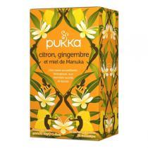 Pukka - Tisane Citron, Gingembre et Miel de Manuka bio - 20 sachets