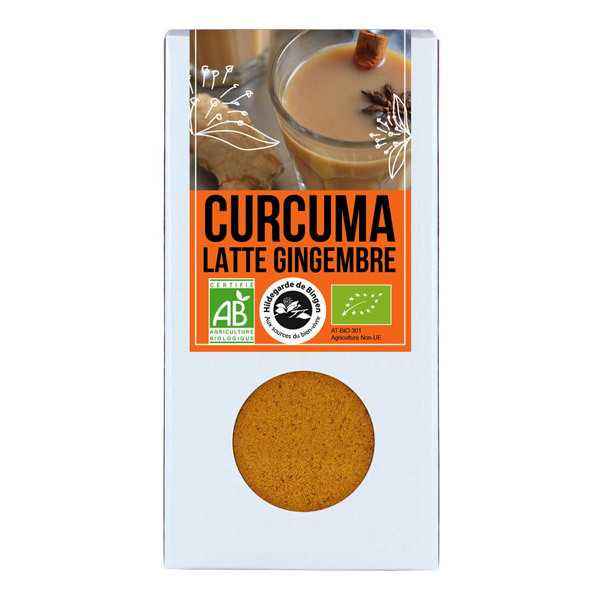 curcuma latte gingembre bio 60g aromandise acheter sur. Black Bedroom Furniture Sets. Home Design Ideas