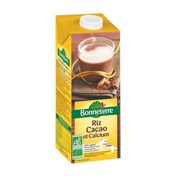 Bonneterre - Boisson Riz cacao et calcium 1L