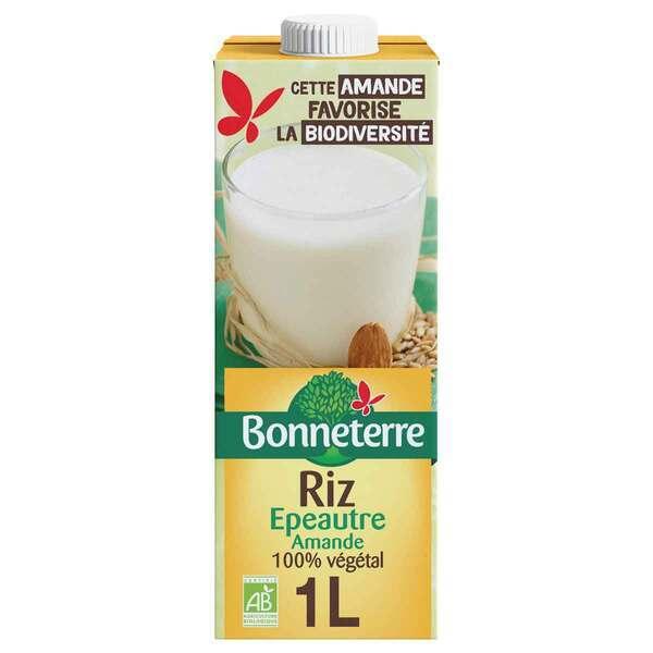 Bonneterre - Boisson riz épeautre amande 1L