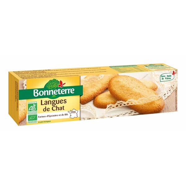 Bonneterre - Langues de Chat sans huile de palme 100g