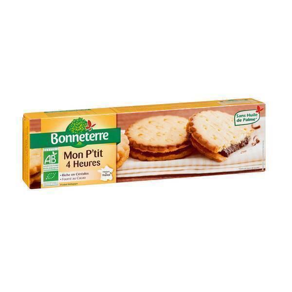 Bonneterre - Mon P'Tit 4 Heures biscuits fourrés chocolat 185g