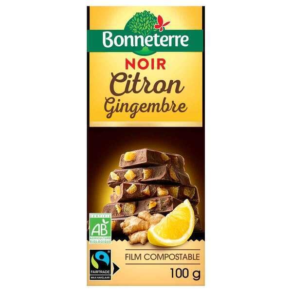 Bonneterre - Tablette chocolat Noir citron gingembre 100g