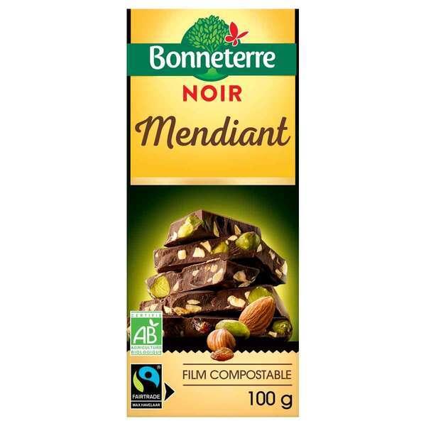 Bonneterre - Tablette chocolat Noir Mendiant 100g