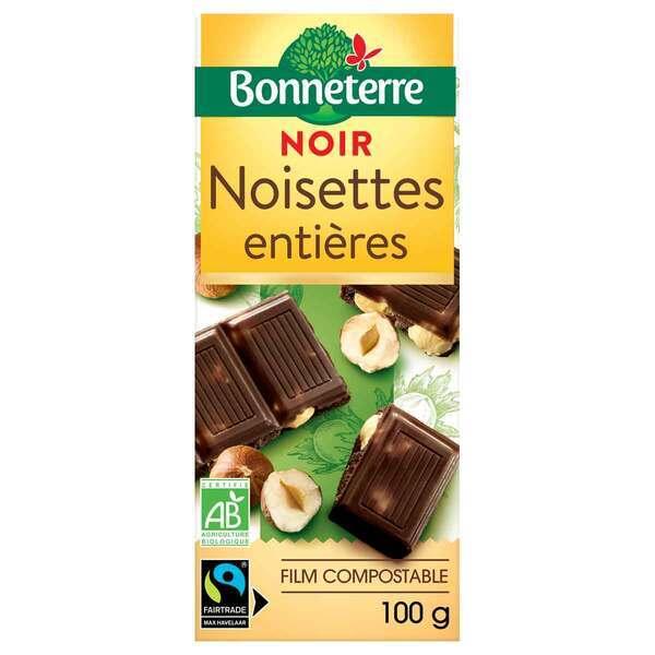 Bonneterre - Tablette chocolat Noir Noisettes entières 100g