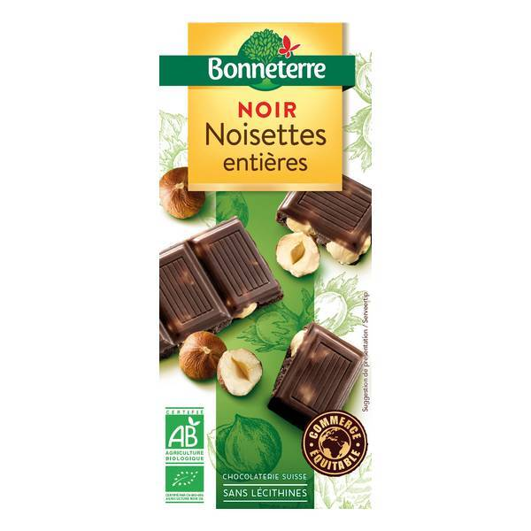 Bonneterre - Tablette chocolat Noir noisettes entières 200g