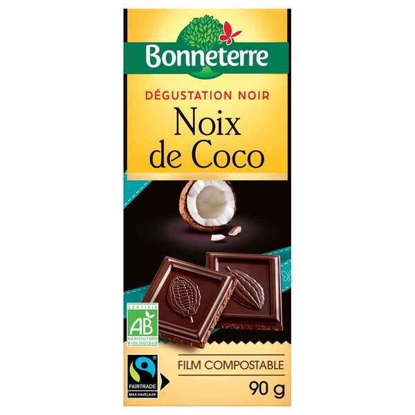 Bonneterre - Tablette chocolat Noir Noix de coco 85g