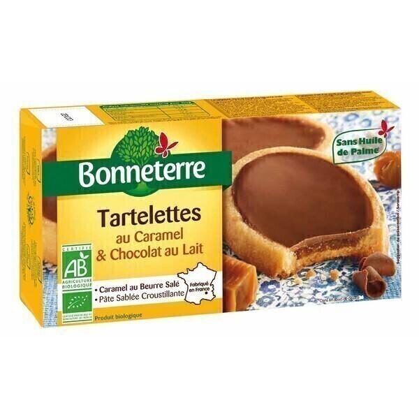 Bonneterre - Tartelettes caramel et chocolat au lait 120g