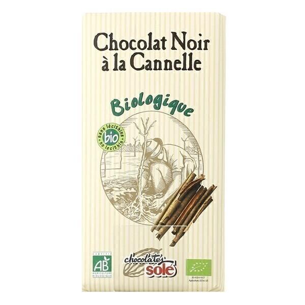 Chocolates Solé - Chocolat Noir 56% À La Cannelle Bio 100g