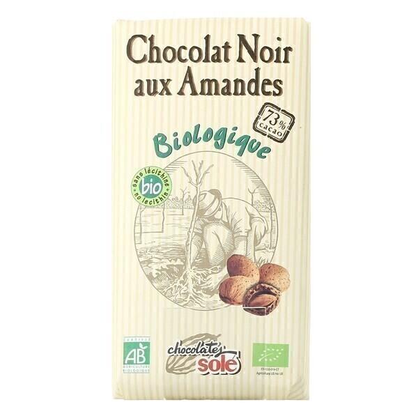 Chocolates Solé - Chocolat Noir 73% Aux Amandes Bio 150g